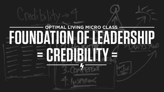 Foundation of Leadership = Credibility = Micro Class Cover