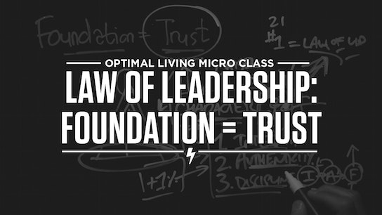 Law of Leadership: Foundation = Trust Micro Class Cover
