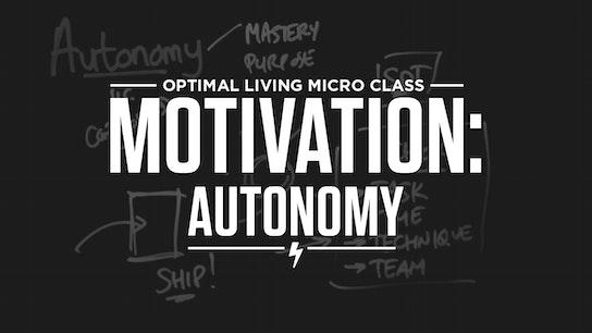 Motivation: Autonomy Micro Class Cover
