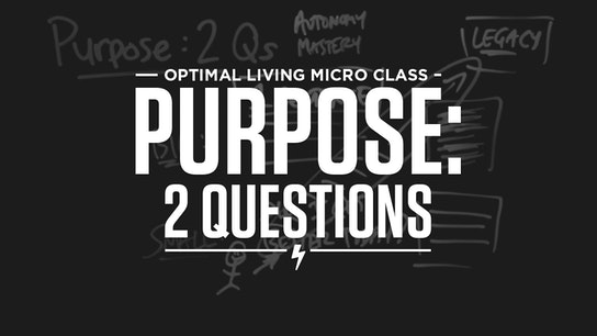 Purpose: 2 Questions Micro Class Cover