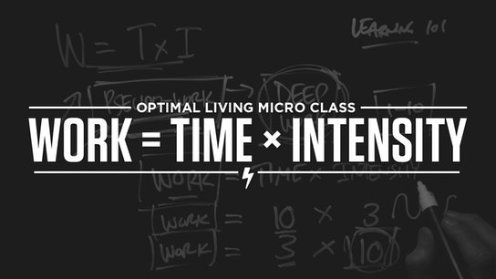 Work = Time x Intensity (Study + life hack) Micro Class Cover