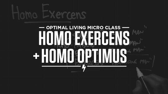 Homo Exercens + Homo Optimus Micro Class Cover