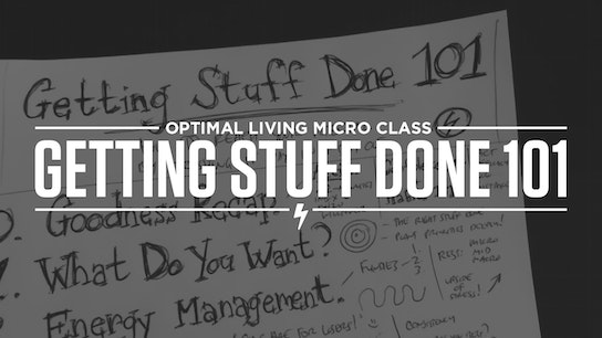 Getting Stuff Done 101 Micro Class Cover