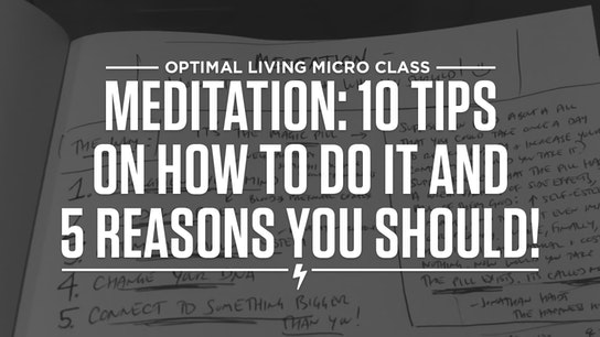 Meditation: 10 Tips on How to Do It and 5 Reasons Why You Should! Micro Class Cover
