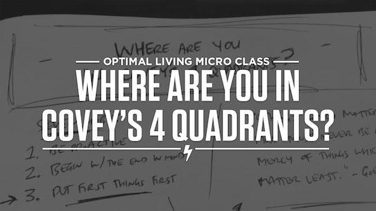 Where are you in Covey's 4 Quadrants? Micro Class Cover